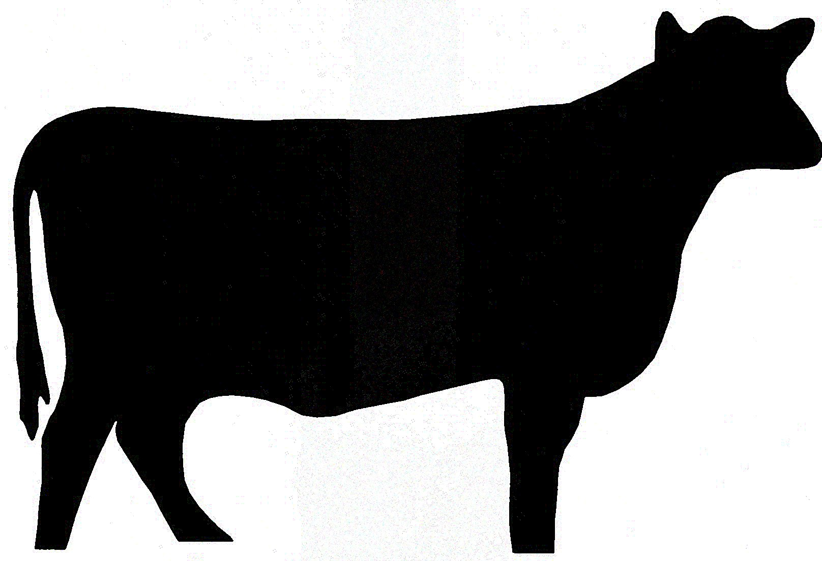 Cow clip art silhouette. At getdrawings com free