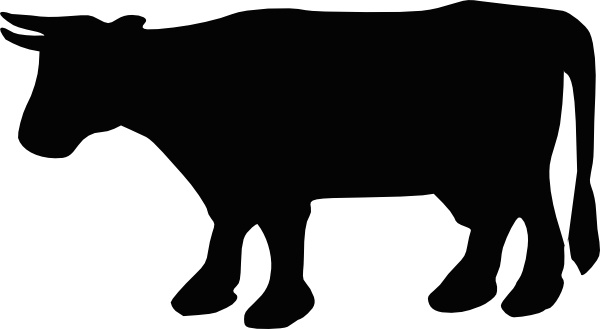 Cow clip art silhouette. Free vector in open