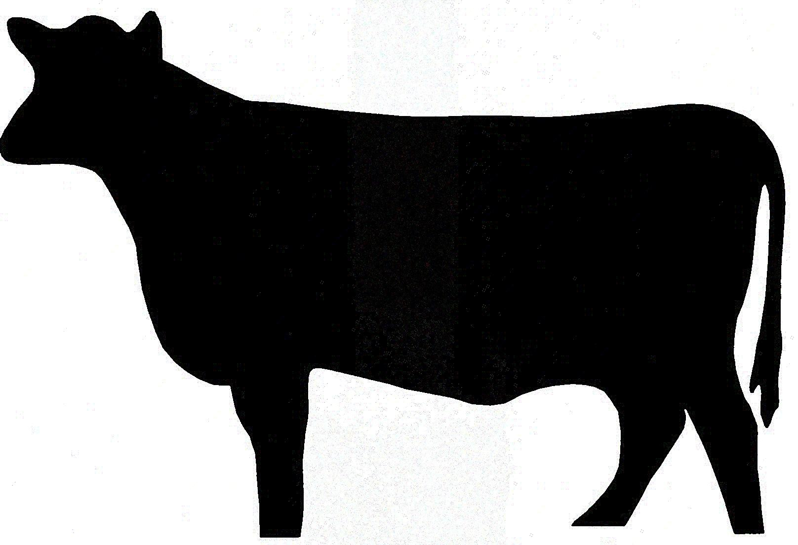 Cow clip art silhouette. Cattle at getdrawings com