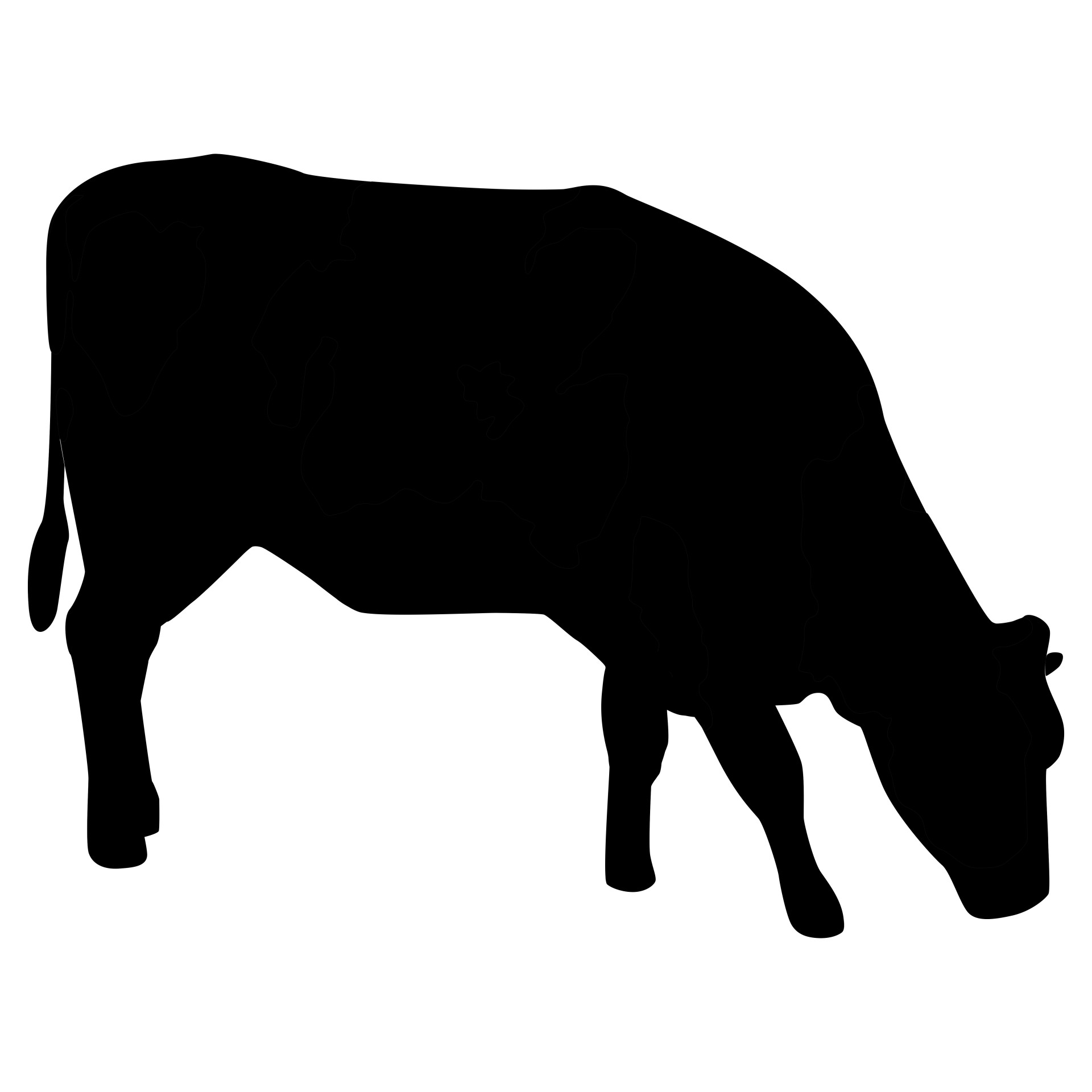 Free stock photo public. Cow clip art silhouette png royalty free library