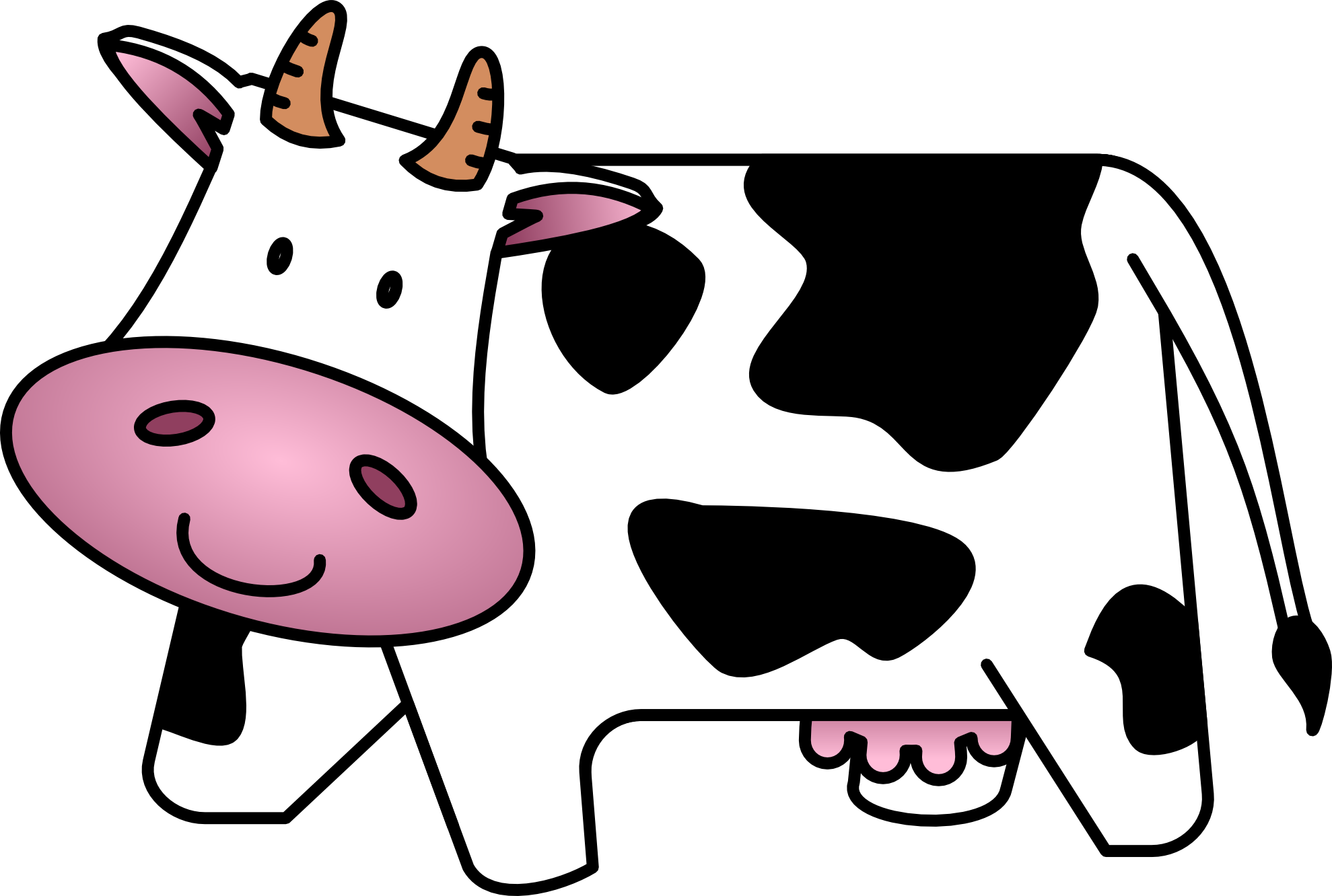 Cow clip art transparent background. Clipart with panda free