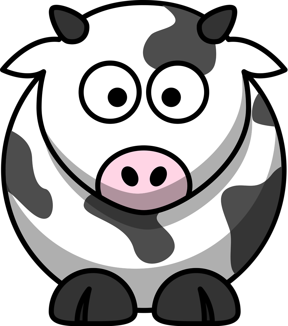 Cow clip art transparent background. Free stock photo illustration