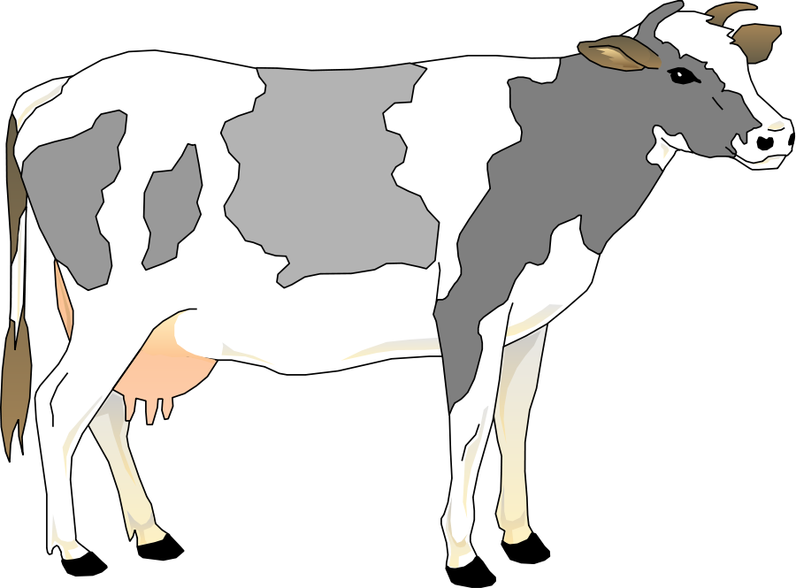 Library free clipart. Cow clip art vintage png