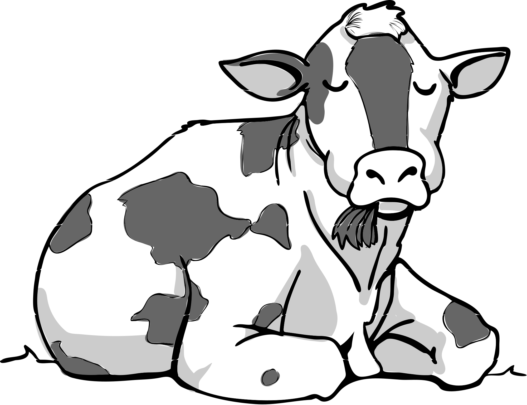 Cow clipart file. Bw svg wikimedia commons