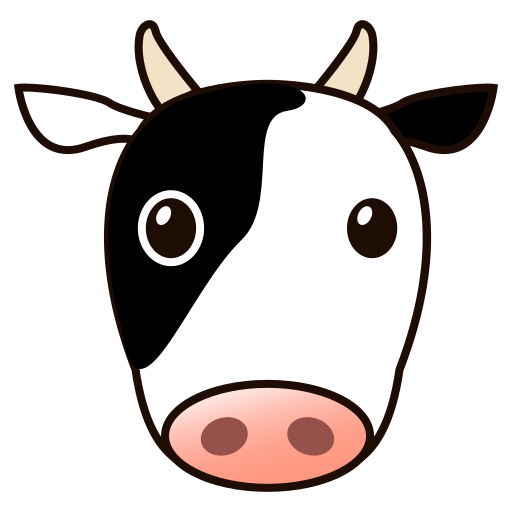 Cow face png. Emoji for facebook email