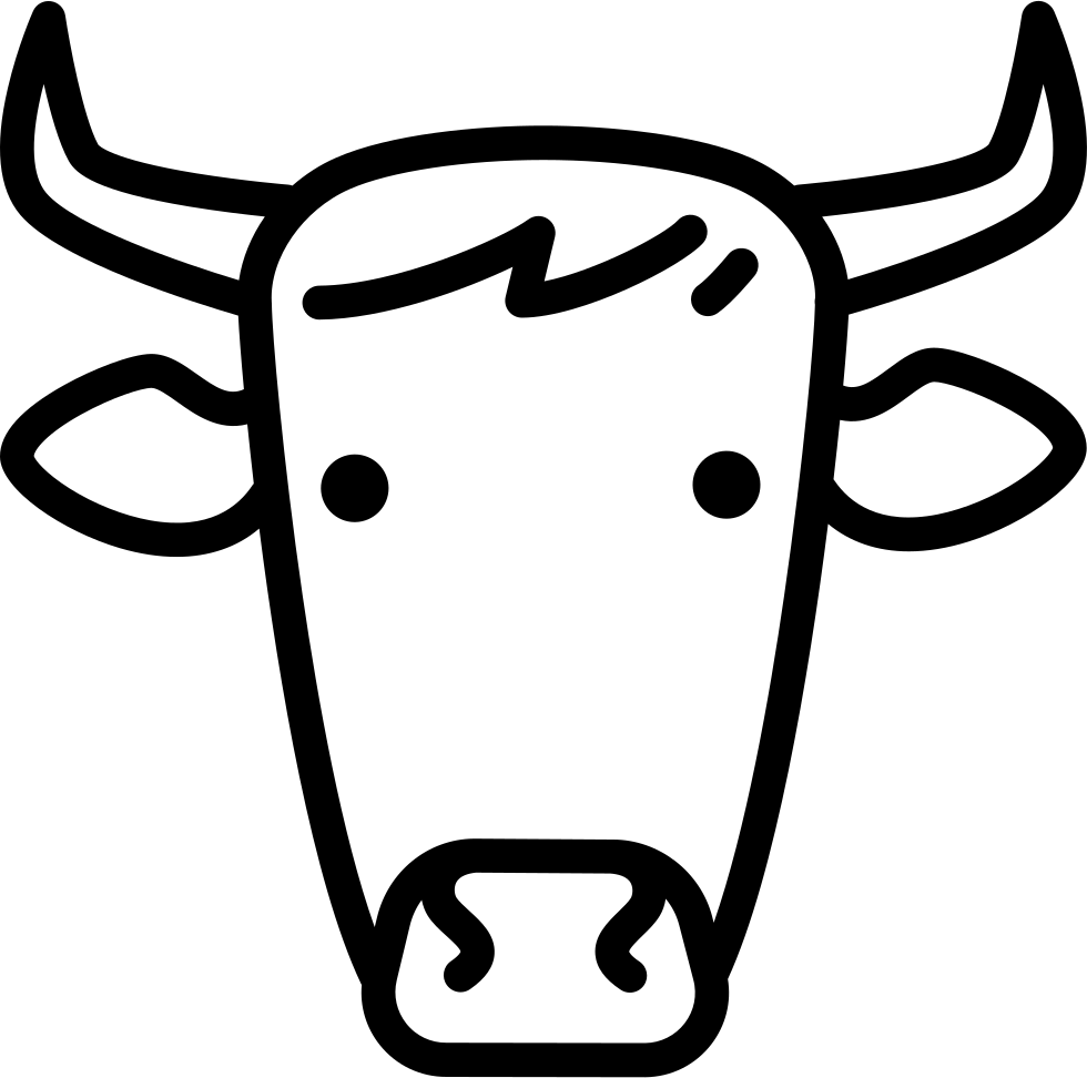 Cow head png. Svg icon free download