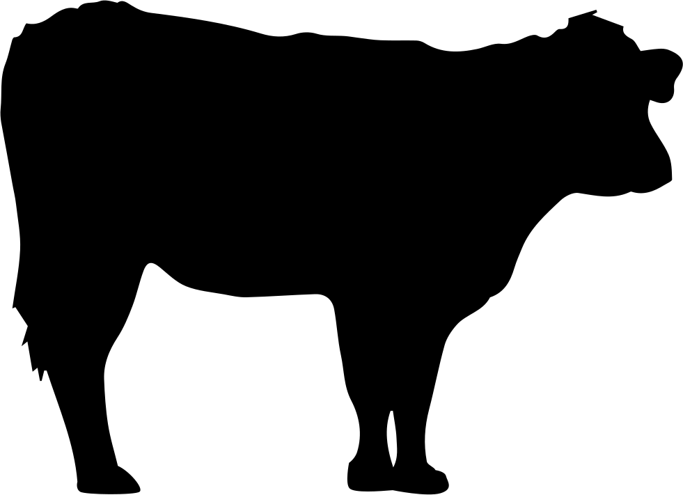 Cow silhouette png. Svg icon free download