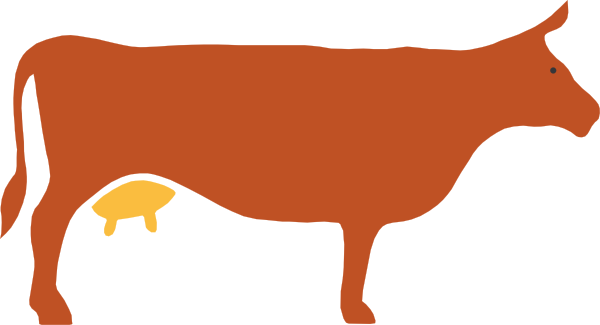 Cow silhouette png. Clip art at clker