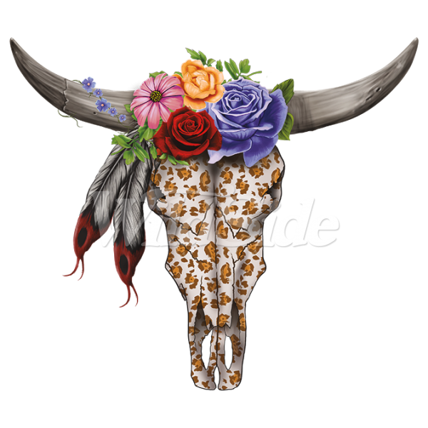 Cow skull png. Flowers the wild side