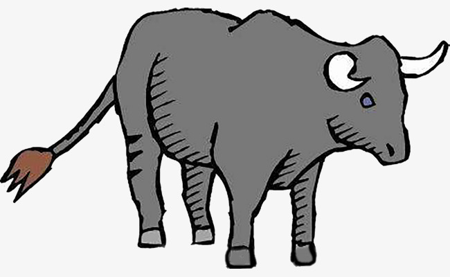 Cow tail. Gray clipart sturdy png