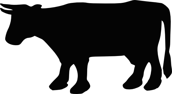 Cow vector png. Black and white image