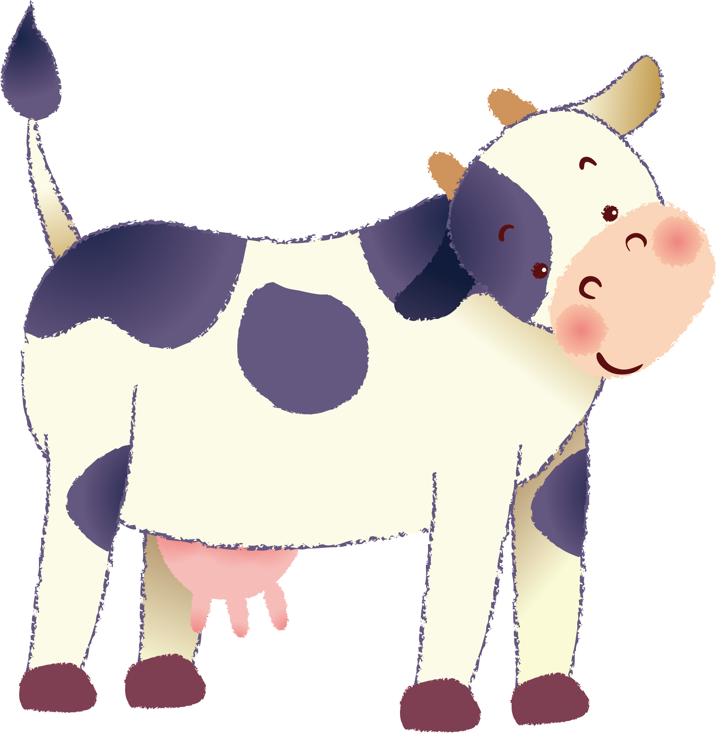 Cow vector png. Dairy clipart at getdrawings