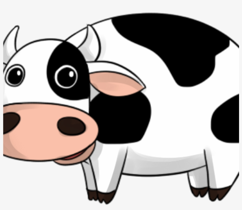 Cow withers. Funny clipart vector transparent
