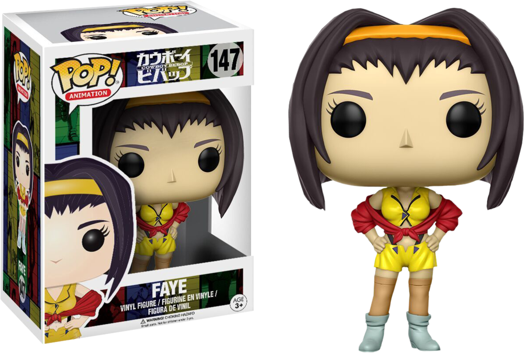 Cowboy bebop faye png. Funko pop animation poptopia