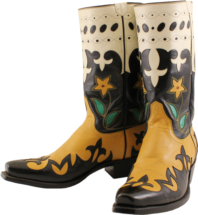Cowboy boots and flowers png. Olsen stelzer ladies america