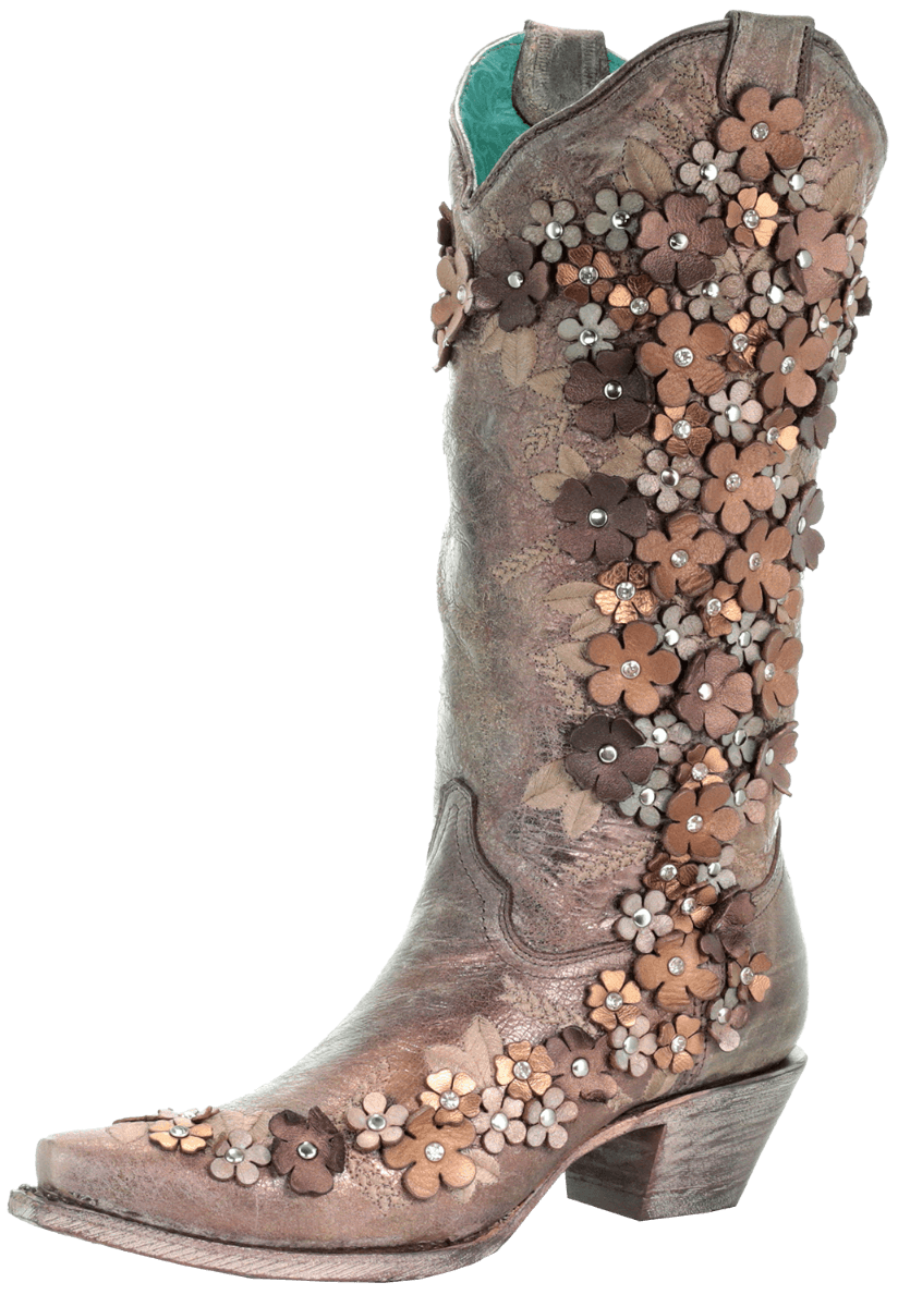 Cowboy boots and flowers png. Corral women s floral