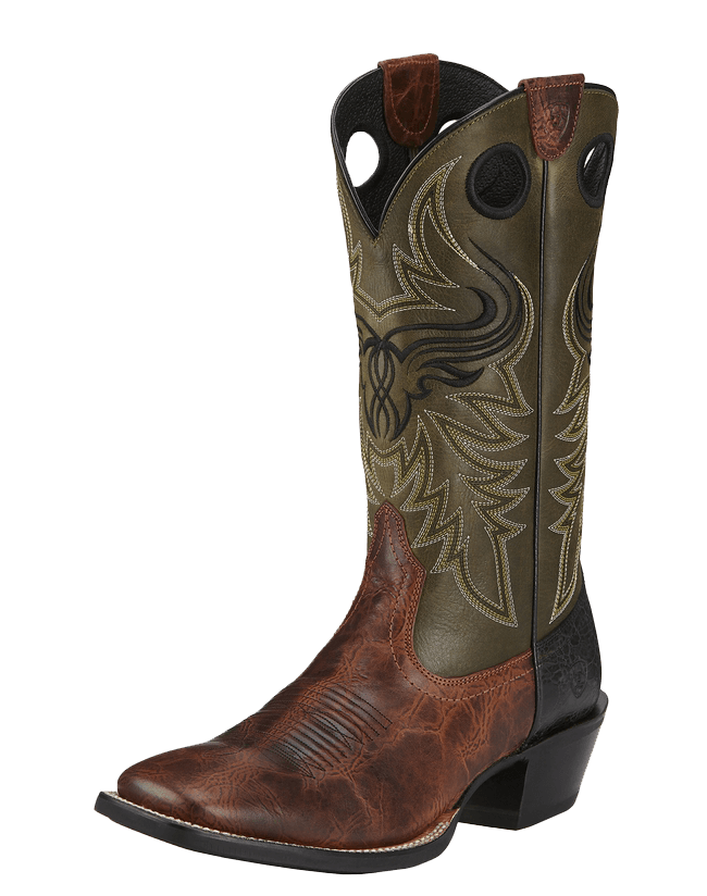 Cowboy boots and flowers png. Ariat men s wild