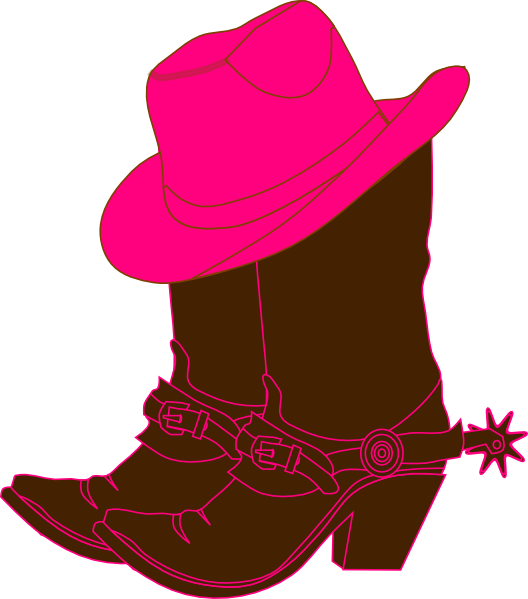 Boots svg hat. Cowgirl clip art free