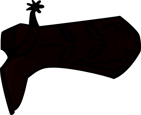 Cowboy boot silhouette png. Clip art at clker