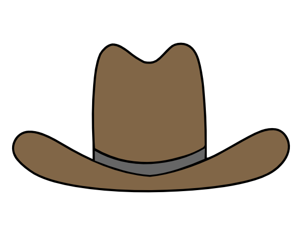 Cowboy clipart cowboy outfit. Hat at getdrawings com