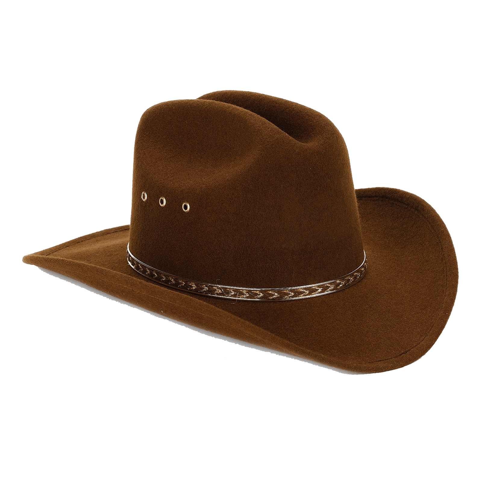 Brown cowboy hat png. Felt transparent stickpng