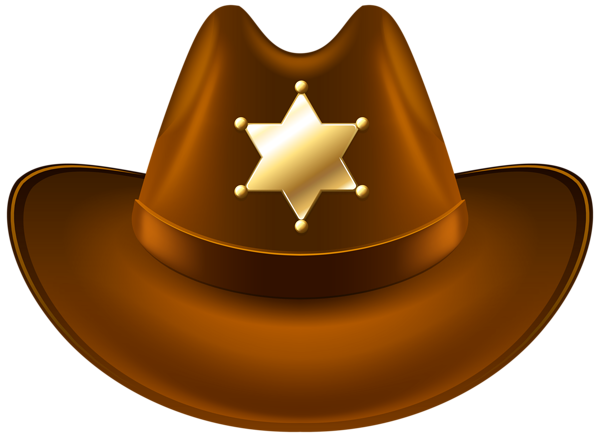 Cowboy clothes png. Hat with sheriff badge