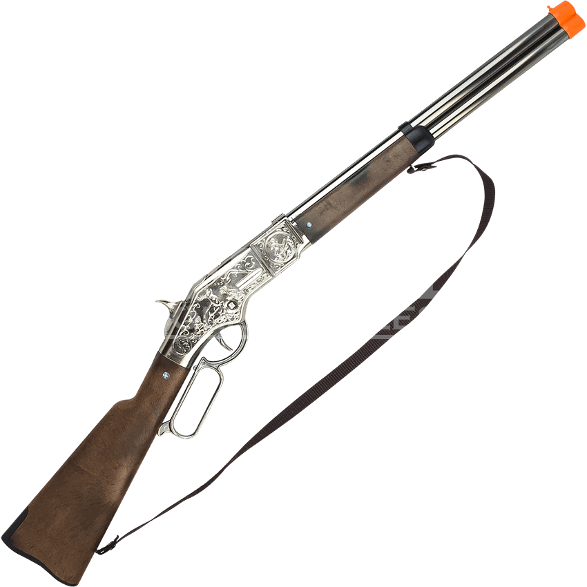 Cowboy gun png. Chrome shot cap rifle