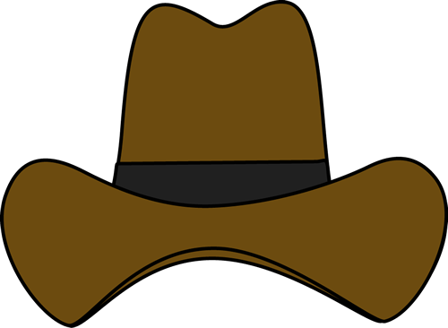 Western drawing hat. Simple cowboy clip art