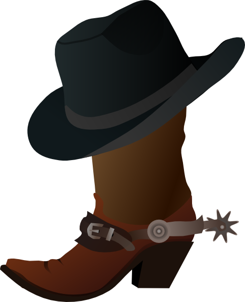 Cowboy hat drawing png. Boot and clip art
