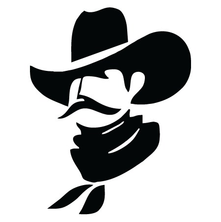 Cowboy hat silhouette png. Wall quotes art decal