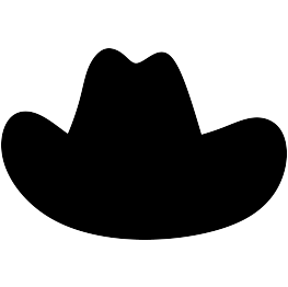 Cowboy hat silhouette png. Father s day decor