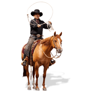 Cowboy on horse png. Of happy dancing clipart