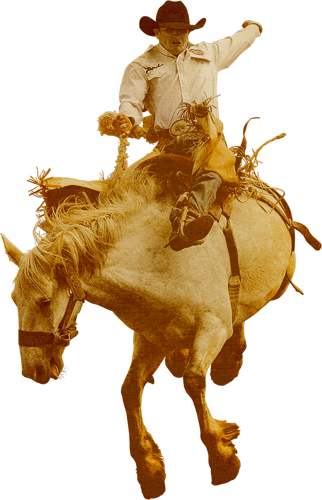 Cowboy on horse png. Christmas longform si com