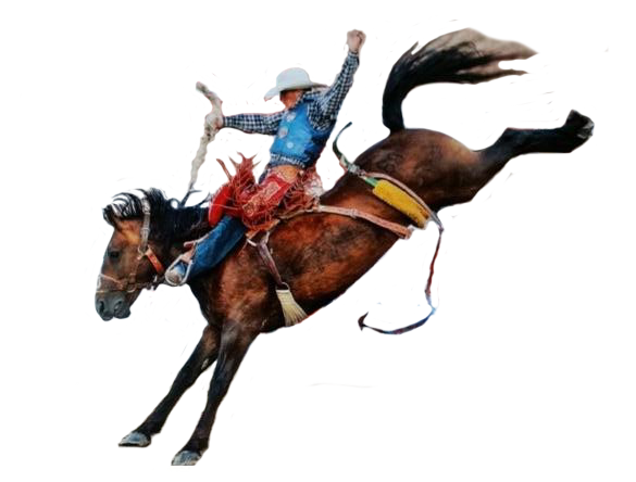 Cowboy on horse png.
