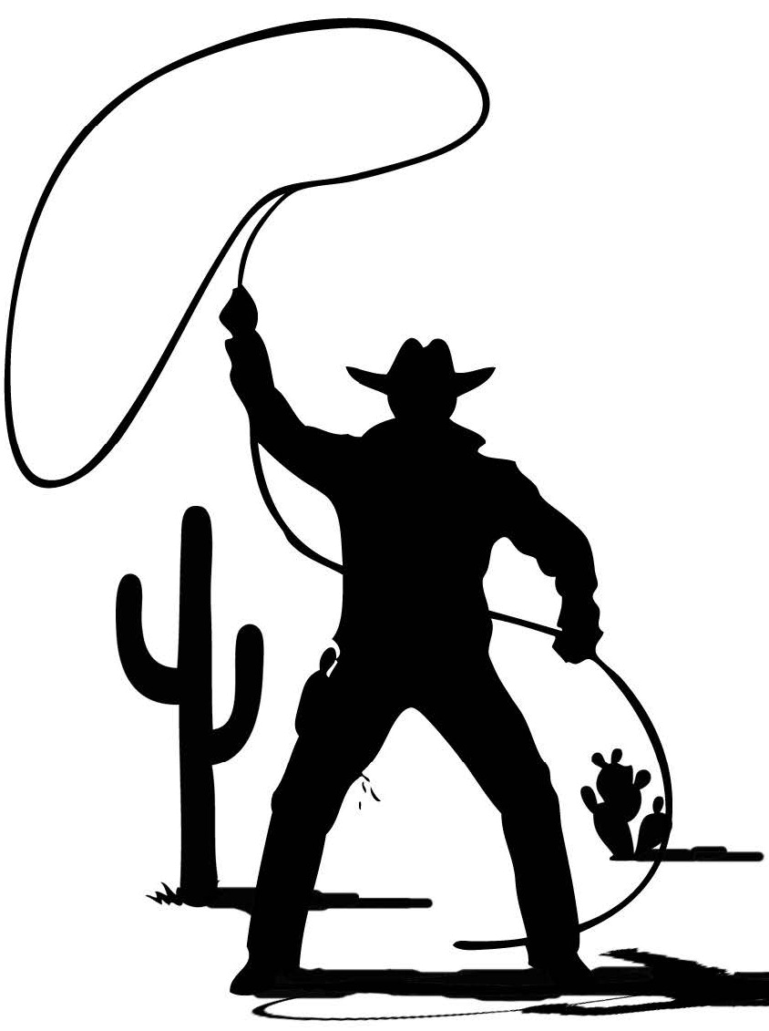Cowboy silhouette png. Photo