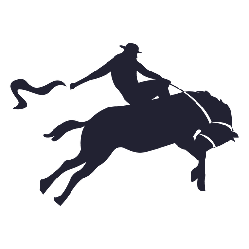 Cowboy silhouette png. Rodeo transparent svg vector