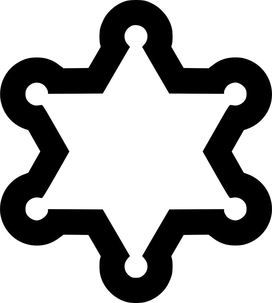 Cowboy star png. Line svg icon free
