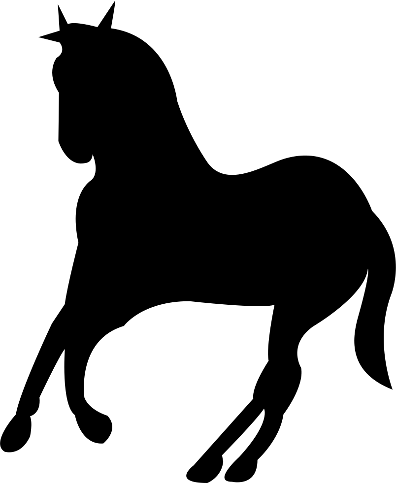 Cowboy svg horse black and white. Running silhouette turning to