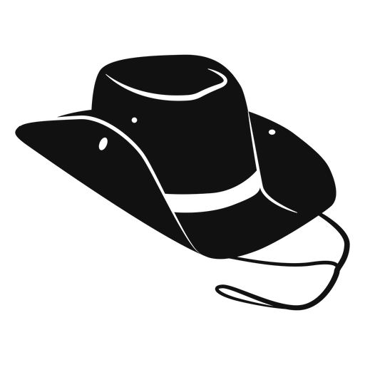 Hat flat icon transparent. Cowboy svg vector clipart black and white library