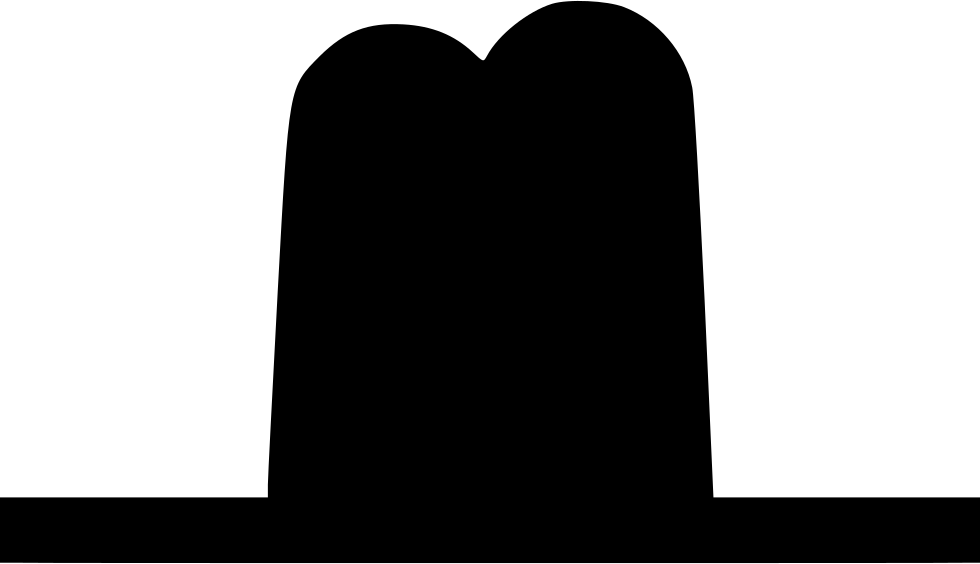 Cowboy svg black silhouette. Hat western png icon