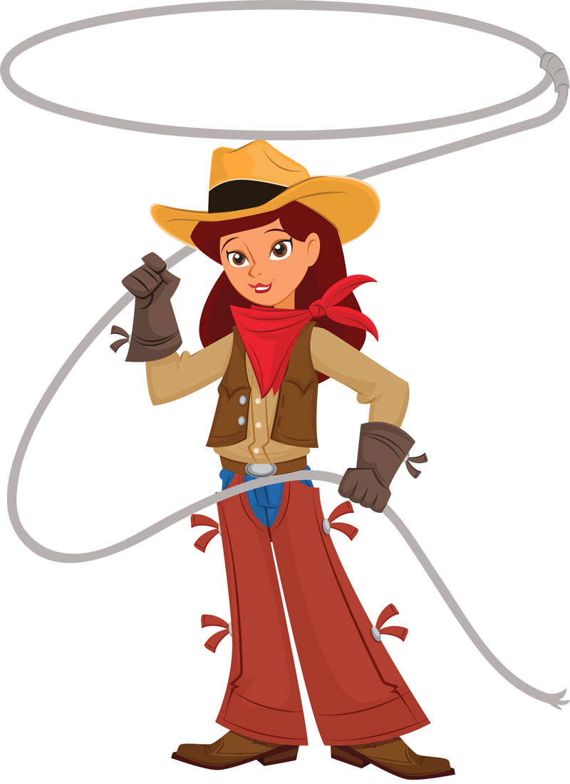 Cowgirl clipart lasso. With