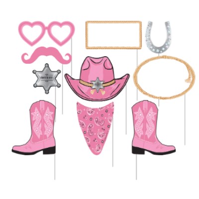 Cowgirl clipart vest. Birthday party supplies canada