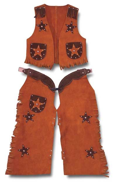 Cowgirl clipart vest. Kids cowboy chaps with