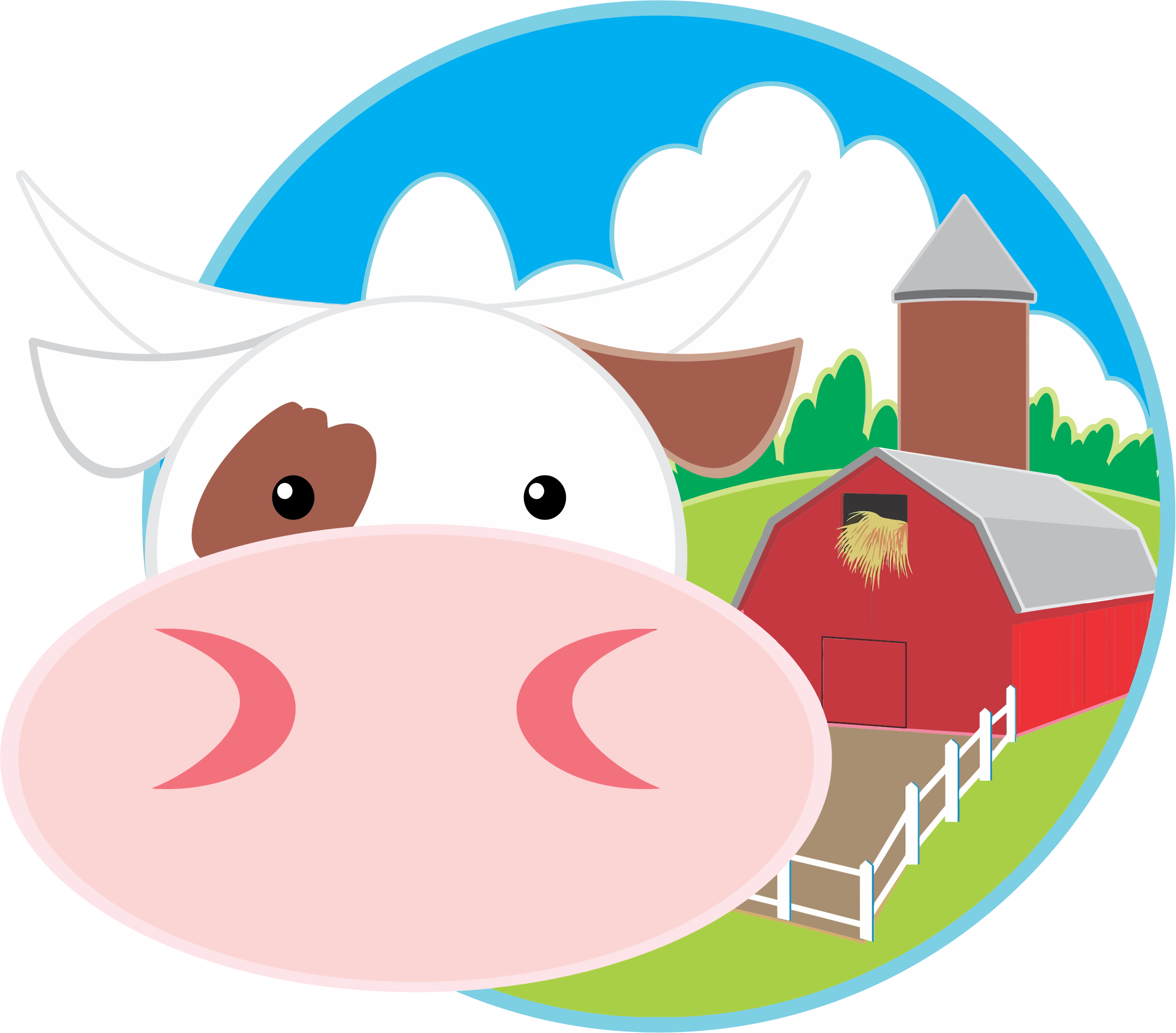 Barn clipart cow. And big image png