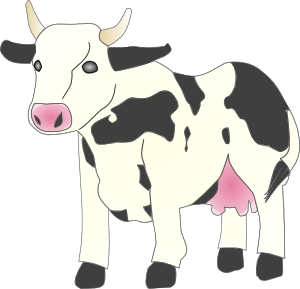 Pin art vector clipart. Cow clip graphic black and white library