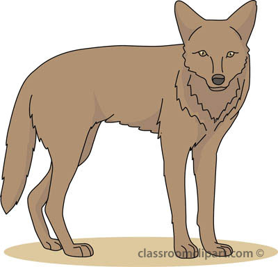 Coyote clipart. From panda free images