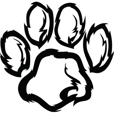 Coyote clipart paw. Prints transparent png stickpng