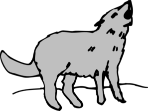 Coyote clipart svg. Gray howling clip art