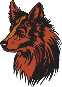 Coyote clipart svg. Red clip art at