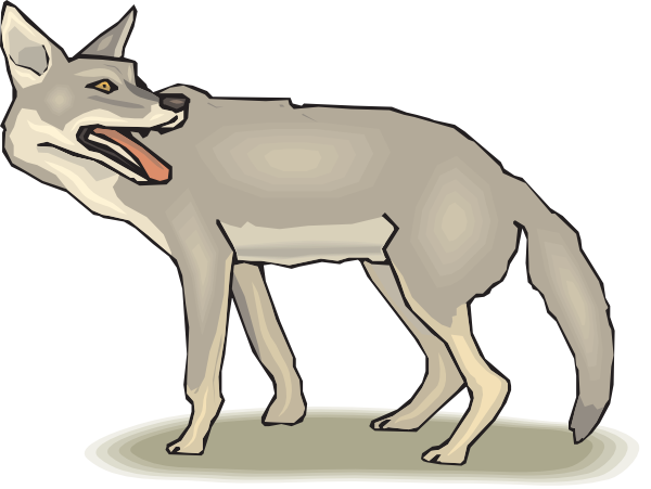 Coyote clipart svg. With tongue clip art